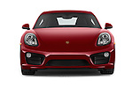 Car photography straight front view of a 2015 Porsche Cayman S 2 Door Coupe Front View