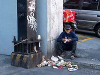 Eating the left over in the streets, Street Photography, Manila, Philippines