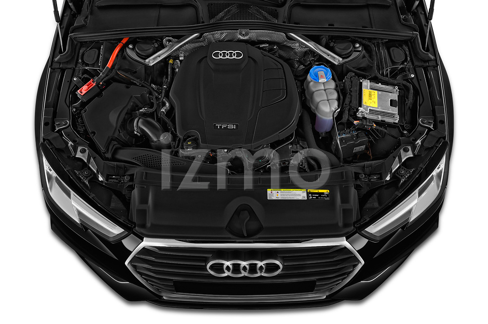High angle detail view 2019 Audi A4-Avant Design 5 Door Wagon engine
