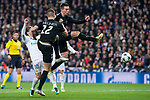 Real Madrid Luka Modric and PSG Thomas Meunier and Giovani Lo Celsoduring Eight Finals Champions League match between Real Madrid and PSG at Santiago Bernabeu Stadium in Madrid , Spain. February 14, 2018. (ALTERPHOTOS/Borja B.Hojas)