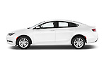 Car Driver side profile view of a 2015 Chrysler 200 Limited 4 Door Sedan 2WD Side View