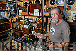 Liam Hannon from Beale, who cannot get back home to Germany where he runs a TV and Radio museum, displays some of his antique equipment. Liam is holding a piece of the first Trans Atlantic cable that ran from Valentia Island to the USA