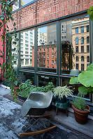 flowerpots in the balcony