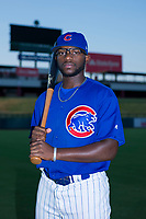 AZL Cubs Delvin Zinn (21) poses for a photo before a game against the AZL Angels on August 31, 2017 at Sloan Park in Mesa, Arizona. AZL Cubs defeated the AZL Angels 9-2. (Zachary Lucy/Four Seam Images)