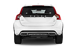 Straight rear view of a 2015 Volvo V60 Summum 5 Door Wagon stock images