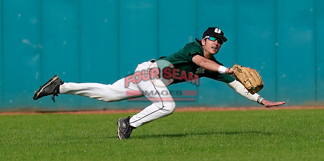 Photo of the University of South Carolina Upstate Spartans in the Green and Black Fall World Series Game 2 on Saturday, October 31, 2020, at Cleveland S. Harley Park in Spartanburg, South Carolina. Green won, 6-5. (Tom Priddy/Four Seam Images)