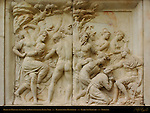 Relief on Pedestal of Statue to Giovanni dalle Bande Nere Bandinelli Piazza San Lorenzo Florence