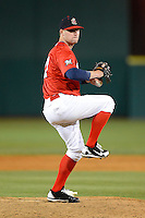 Brevard County Manatees pitcher Stephen Peterson #27 during a game against the Daytona Cubs at Spacecoast Stadium on April 5, 2013 in Viera, Florida.  Daytona defeated Brevard County 8-0.  (Mike Janes/Four Seam Images)
