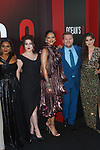 Cast (l-r) Mindy Daling, Helena Bonham Carter and Rihanna, James Corden, and screen writer Olivia Milch arrive at the World Premiere of Ocean's 8 at Alice Tully Hall in New York City, on June 5, 2018.