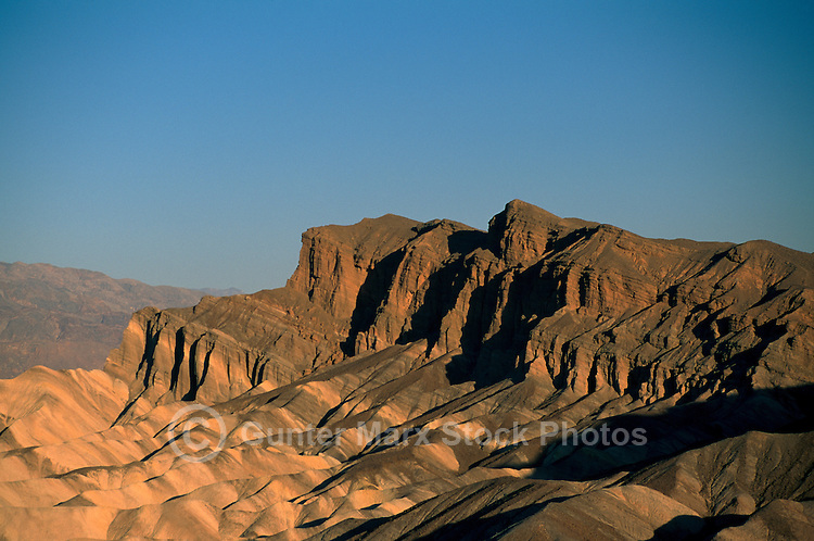 Death Valley National Park, California, CA, USA - View of Eroded Landscape and Mountains, from Zabriskie Point in the Amargosa Range