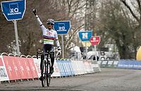 cx world champion Ceylin del Carmen Alvarado (NED/Alpecin-Fenix) winning the 2021 Flandriencross Hamme (BEL)<br /> <br /> ©kramon