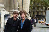 Igor et Grichka Bogdanoff - Hommage à Gonzague Saint Bris en l'église Saint-Sulpice à Paris, France - 28/9/2017