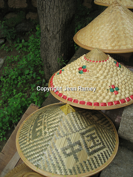 Straw hats, Great Wall of China