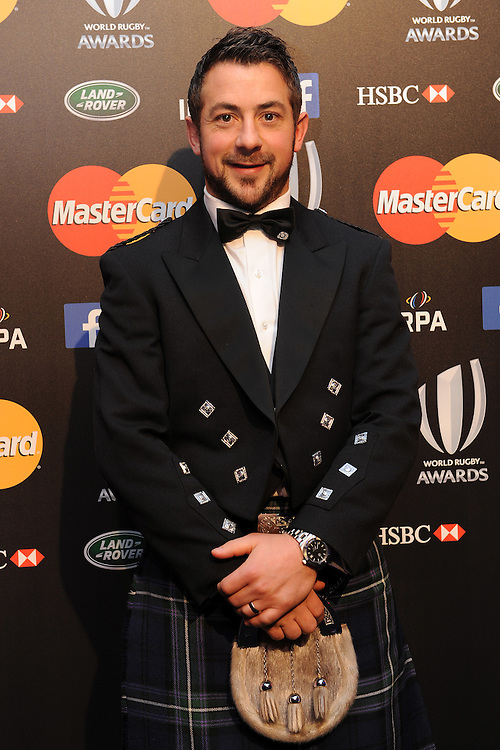 Greig Laidlaw, Scotland captain and World Rugby Player of the Year nominee, at the World Rugby Awards 2015  - 01/11/2015 - Battersea Evolution, London<br /> Mandatory Credit: Rob Munro/Stewart Communications