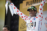 polka dot jersey for Daniel Teklehaimanot (ERI/MTN-Qhubeka)<br /> <br /> stage 9: TTT Vannes - Plumelec (28km)<br /> 2015 Tour de France