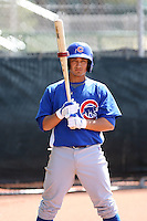 Darwin Barney, Chicago Cubs 2010 minor league spring training..Photo by:  Bill Mitchell/Four Seam Images.