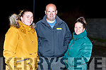 Marion O'Connor, Paddy and Elma Fitzgerald celebrating the All Ireland Camogie Junior Champions victorious Kerry team homecoming in Causeway on Sunday night.