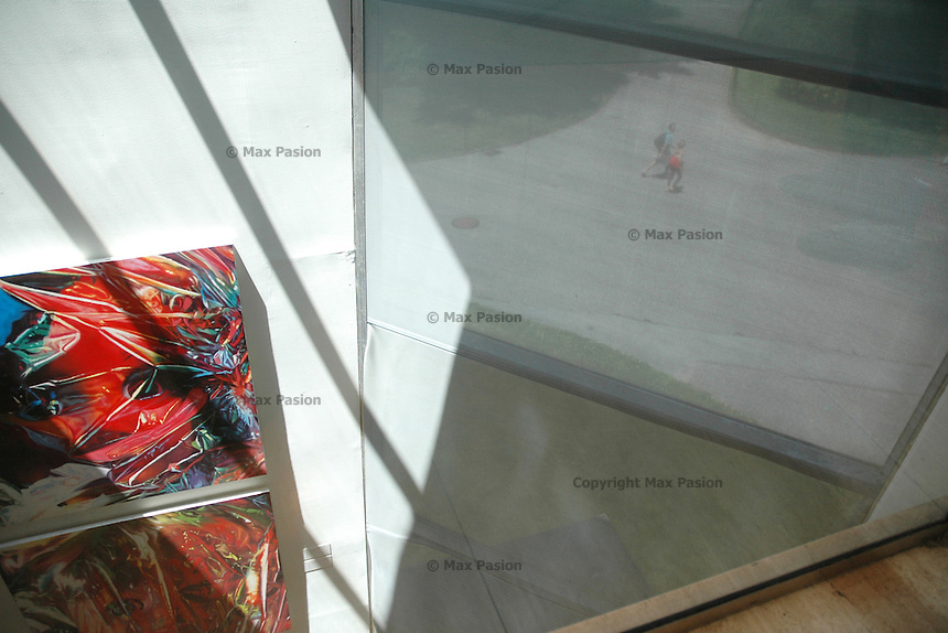 """Painting: """"Gift Wrapped Doll #23"""" by James Rosenquist, 1993, oil on canvas; Central Park through the Met, 5 June 2005"""