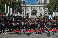 Shiah Muslims mark Ashura in London. 10-9-19
