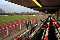 General view from the East Side of the ground - AFC Hornchurch vs Wingate & Finchley - Ryman League Premier Division Football at Hornchurch Stadium, Bridge Avenue, Upminster, Essex - 30/11/13 - MANDATORY CREDIT: Gavin Ellis/TGSPHOTO - Self billing applies where appropriate - 0845 094 6026 - contact@tgsphoto.co.uk - NO UNPAID USE