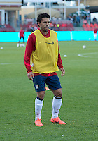 03 June 2012: US Men's National Soccer Team forward Herculez Gómez  #9 in action during the warm-up in an international friendly  match between the United States Men's National Soccer Team and the Canadian Men's National Soccer Team at BMO Field in Toronto..The game ended in 0-0 draw..