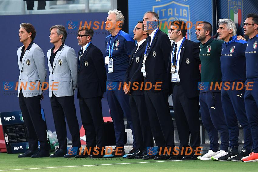 Roberto Mancini,Gabriele Oriali,Albertico Evani<br /> Uefa European friendly football match between Italy and Czech Republic at stadio Renato Dall'Ara in Bologna (Italy), June, 4th, 2021. Photo Image Sport / Insidefoto