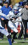 Pahranagat Valley's Cody Williams make a reception in the first half of the NIAA DIV championship game against Whittell High at Dayton High School in Dayton, Nev., on Saturday, Nov. 21, 2015. Pahranagat Valley won 54-28. (Cathleen Allison/Las Vegas Review Journal)
