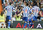 Deportivo de La Coruna's Riki celebrates with team mates during La Liga match. September 30, 2012. (ALTERPHOTOS/Alvaro Hernandez).
