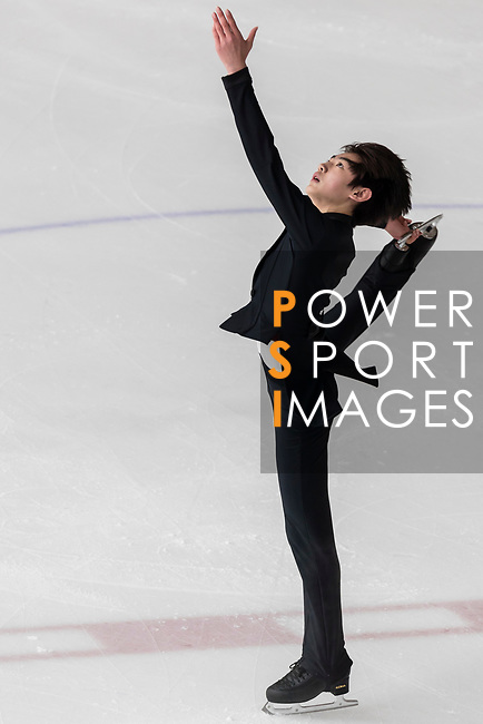 Sung Hoon Park of Korea competes in Junior Men group during the Asian Open Figure Skating Trophy 2017 at Mega Ice on 02 August, 2017 in Hong Kong, China. Photo by Yu Chun Christopher Wong / Power Sport Images