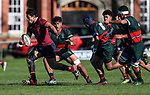Action during the 1st XV Rugby match between Kings College and Dilworth College, Kings College, Auckland, New Zealand. Saturday 29 July 2017. Photo: Simon Watts/www.bwmedia.co.nz for Kings College