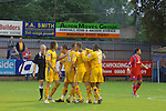 Aldershot Town 0 Torquay United 3, 15/08/2007. Recreation Ground, Football Conference.Torquay's first game in the Blue Square Premier. A 330 mile round trip to Aldershot Town's Recreation Ground. Torquay celebrate the opening goal.