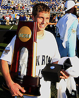 Scott Caldwell #15 of the University of Akron after the 2010 College Cup final against the University of Louisville at Harder Stadium, on December 12 2010, in Santa Barbara, California.Akron champions, 1-0.