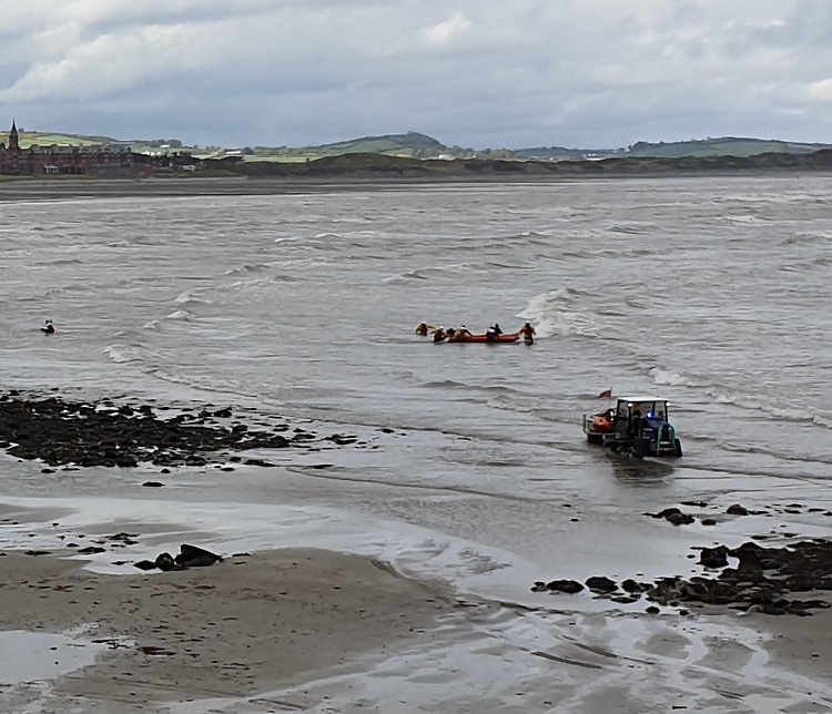 Newcastle RNLI Assists Group of Laser Dinghy Sailors in Difficulty in Challenging Seas