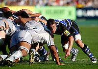 Photo: Richard Lane/Richard Lane Photography. Bath Rugby v Leicester Tigers. Aviva Premiership. 01/10/2011. Bath's Ben Skirving.