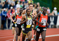 EUGENE, OR--Tariku Bekele Bernard Kiptum race in the men's 2 mile at the Steve Prefontaine Classic, Hayward Field, Eugene, OR. SUNDAY, JUNE 10, 2007. PHOTO © 2007 DON FERIA