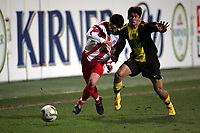 Christian Demirtas (FSV Mainz 05) im Zweikampf mit Nelson Valdez (Borussia Dortmund)