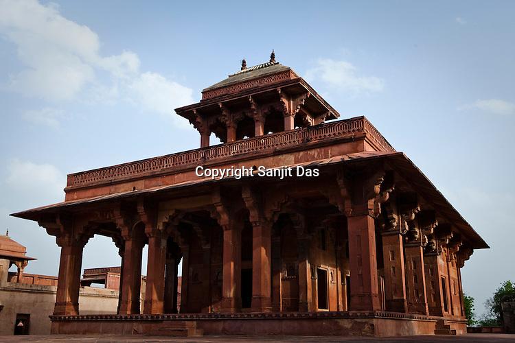 Fatehpur Sikri Palace Complex in Fatehpur Sikri, close to Agra, Uttar Pradesh in India. Photo: Sanjit Das/Panos pour Le Point