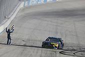 Monster Energy NASCAR Cup Series<br /> Apache Warrior 400<br /> Dover International Speedway, Dover, DE USA<br /> Sunday 1 October 2017<br /> Kyle Busch, Joe Gibbs Racing, M&M's Caramel Toyota Camry celebrates after winning<br /> World Copyright: Logan Whitton<br /> LAT Images