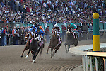 9 April 2009: Zenyatta, riden by Mike Smith, starts the race 6 lengths behind before winning the 45th running of the Apple Blossom at Oaklawn in Hot Springs, Arkansas