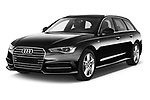 2018 Audi A6 Avant S Line Select Doors Door Wagon angular front stock photos of front three quarter view