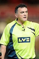 Referee Sean Davey during the LV= Cup first round match between Scarlets and Leicester Tigers at Parc y Scarlets (Photo by Rob Munro, Fotosports International)