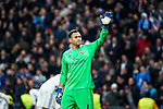 Keylor Navas of Real Madrid  during the match of Champions League between Real Madrid and SSC Napoli  at Santiago Bernabeu Stadium in Madrid, Spain. February 15, 2017. (ALTERPHOTOS)