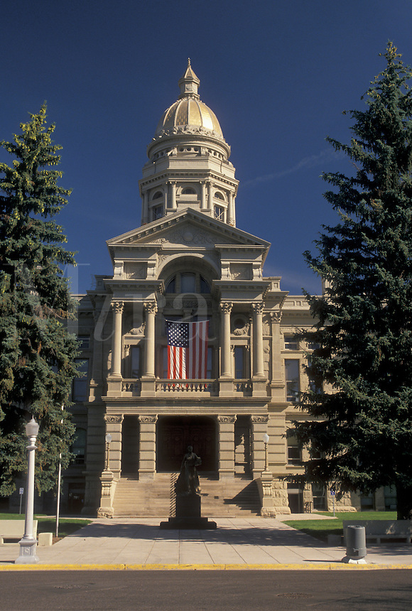 Cheyenne, WY, State Capitol, State House, Wyoming, The Wyoming State Capitol Building in the capital city of Cheyenne.