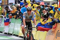 3rd July 2021; Oyonnax, Auvergne-Rhône-Alpes, France; TOUR DE FRANCE 2021 UCI Cycling World Tour Stage 8  from Oyonnax to Le Grand Bornand;  <br /> Tadej Pogacar Slovenia Uae Team Emirates