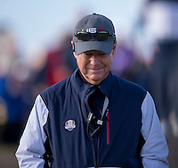 26.09.2014. Gleneagles, Auchterarder, Perthshire, Scotland.  The Ryder Cup.  Tom Watson USA Team Captain during Friday Fourballs.