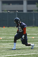 Virginia wide receiver Kris Burd during open spring practice for the Virginia Cavaliers football team August 7, 2009 at the University of Virginia in Charlottesville, VA. Photo/Andrew Shurtleff