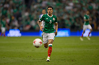 Mexico City, Mexico - Sunday June 11, 2017: Carlos Salcedo during a 2018 FIFA World Cup Qualifying Final Round match with both men's national teams of the United States (USA) and Mexico (MEX) playing to a 1-1 draw at Azteca Stadium.