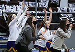 SIOUX FALLS, SD - MARCH 7: The Western Illinois Leathernecks bench celebrates a three pointer during their game against the UMKC Kangaroos during the Summit League Basketball Tournament at the Sanford Pentagon in Sioux Falls, SD. (Photo by Dave Eggen/Inertia)