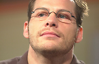 Montreal, June 5th 2001<br /> BAR team Formula One driver, JACQUES VILLENEUVE HOLDS A PRESS CONFERENCE TO CHAT ABOUT HIS CURRENT ACTIVITIES ON THE RACE TRACK AND BEYOND June 5th 2001 in his new restaurant - dance club ``Newtown `` on Crescent Street in downtown, MONTREAL , Canada.
