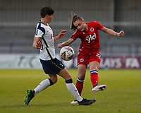 Ashleigh Neville of Tottenham and Lily Woodham of Reading during Tottenham Hotspur Women vs Reading FC Women, Barclays FA Women's Super League Football at the Hive Stadium on 7th November 2020